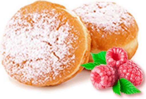 Пончик Берлинер с малиновой начинкой вес