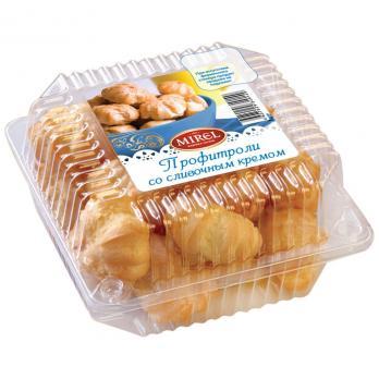 Набор пирожных MIREL Профитроли со сливочным кремом 180г