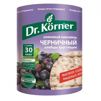 Хлебцы DR KORNER Злаковый коктейль черничный 100г