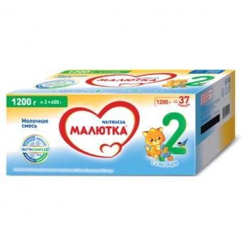 Д/п смесь МАЛЮТКА 2 сухая адаптированная молочная 6-12 мес 1200г