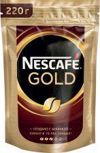 Кофе растворимый NESCAFE GOLD натуральный сублимированный м/у 220г