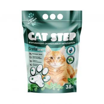 Наполнитель CAT STEP д/кошачьего туалета Силикагель мята 3,8л