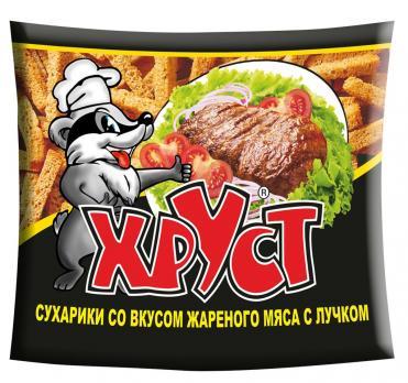 Сухарики ХРУСТ Со вкусом жареного мяса с лучком 40г