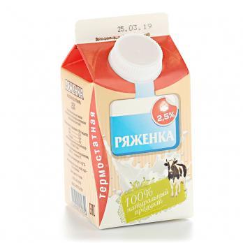 Ряженка ЯГОДНАЯ ПОЛЯНА 2,5% п/п без змж 500г