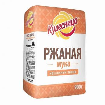 Мука ЛЕНТА ржаная хлебопекарная обдирная 900г