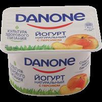 Йогурт DANONE густой Персик 2,9% п/ст
