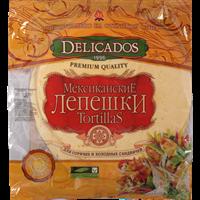 Лепешки тортильи DELICADOS пшеничные со вкусом сыра