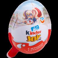 Изделие кондитерское KINDER JOY Girls с игрушк. ваф. хруст шарики покрытые какао в креме