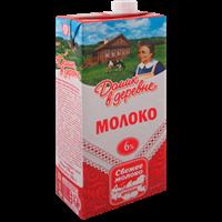 Молоко ДОМИК В ДЕРЕВНЕ у/паст. питьевое 6% TBASlim