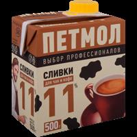 Сливки ПЕТМОЛ у/паст. питьевые 11% combiblock