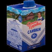 Сливки ДОМИК В ДЕРЕВНЕ стерил. питьевые 10% TBA Square