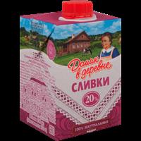 Сливки ДОМИК В ДЕРЕВНЕ стерил. 20% TBA Sq с крышкой
