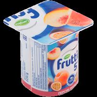 Продукт йогуртный FRUTTIS паст. сливочный персик-маракуя/ананас-дыня 5%