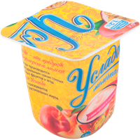 Продукт йогуртный EHRMANN Услада молочная паст. с соком персика и маракуйи 1,2%