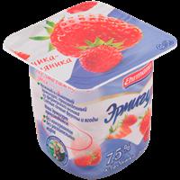 Продукт йогуртный EHRMANN Эрмигурт Экстра сливочный клубника/земляника 7,5%
