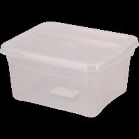 Ящик для хранения БЫТПЛАСТ Кристалл 2л 190x157x90 с крышкой 4312491 / 4312495