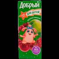 Сок ДОБРЫЙ Slim Яблоко-Вишня т/пак.