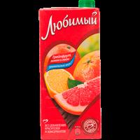 Напиток сокосодержащий ЛЮБИМЫЙ из грейпфр. лимона и лайма д/д.п. т/пак.