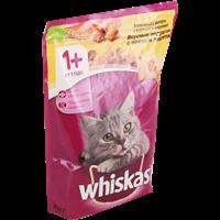 Корм для кошек WHISKAS сухой подушечки нежный паштет Курица и Индейка
