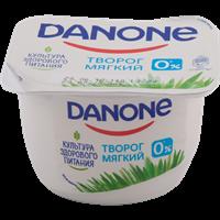 Творог DANONE мягкий Натуральный 0% форм.ст.