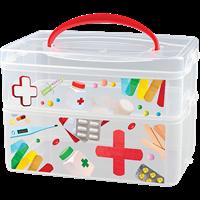 Коробка БЫТПЛАСТ Multi Box 2л+3л (2 секции) универ с ручкой и декором пластик 4312334