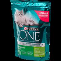 Корм для взрослых кошек PURINA ONE С индейкой+цельными злаками живущ.в дом. усл. сух.