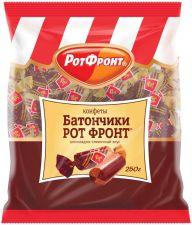 Конфеты РОТ-ФРОНТ Батончики шоколадно-сливочный вкус 250г