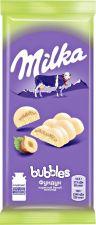 Шоколад MILKA Белый пористый с фундуком 83