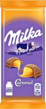 Шоколад MILKA молочный с карамельной начинкой 90г