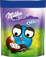 Шоколад MILKA Фигурный молочный форме яйца молоч.начинкой с кусоч. печенья 86г