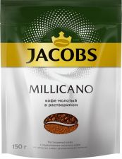 Кофе растворимый JACOBS Monarch Millicano с добав. молотого м/у 150г