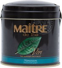 Чай зеленый MAITRE DE THE Байховый Наполеон лист. ж/б 100г