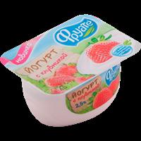 Йогурт ФРУАТЕ с клубникой 2,5% ванночка