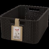 Корзина CURVER Rattan Style Box M-18L 04722