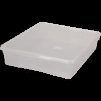 Ящик для хранения БЫТПЛАСТ Кристалл 9л 400х335х85 с крышкой 4312494