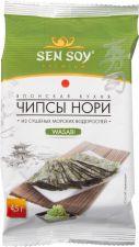 Чипсы СЭН СОЙ Премиум Wasabi из морской капусты 4,5г
