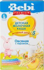 Д/п каша BEBI Premium овсяная с персиком мол с 5 мес 250г
