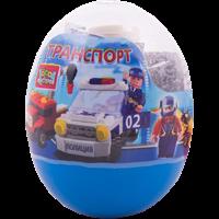 Конструктор ГОРОД МАСТЕРОВ Транспорт в ассорт.в яйце 221617