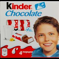 Шоколад KINDER Chocolate молочный с молочной начинкой (Россия)/
