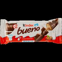 Вафли KINDER Bueno покрытые молочн шоколадом с молочно-ореховой начинкой