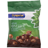 Фундук ЛЕНТА в шоколадной глазури