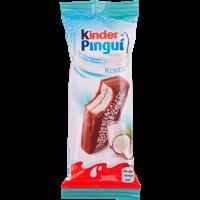 Пирожное KINDER Пингви бисквит. покрытое молоч.шокол. с молоч.-кокос. начинк