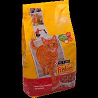 Корм для взрослых кошек FRISKIES Мясо/курица/печень сухой