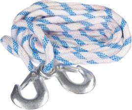 Трос буксировочный СИГМА веревочный, 2 крюка 4,5т