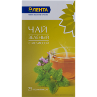 Чай зеленый ЛЕНТА С Мелиссой к/уп