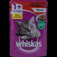 Корм для кошек WHISKAS Желе с говядиной и ягненком