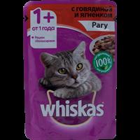 Корм для кошек WHISKAS Рагу с говядиной и ягненком