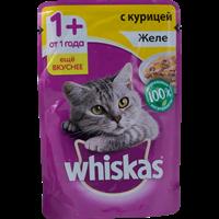 Корм для кошек WHISKAS Желе с курицей
