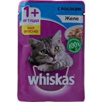 Корм для кошек WHISKAS Желе с лососем