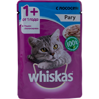 Корм для кошек WHISKAS Рагу с лососем